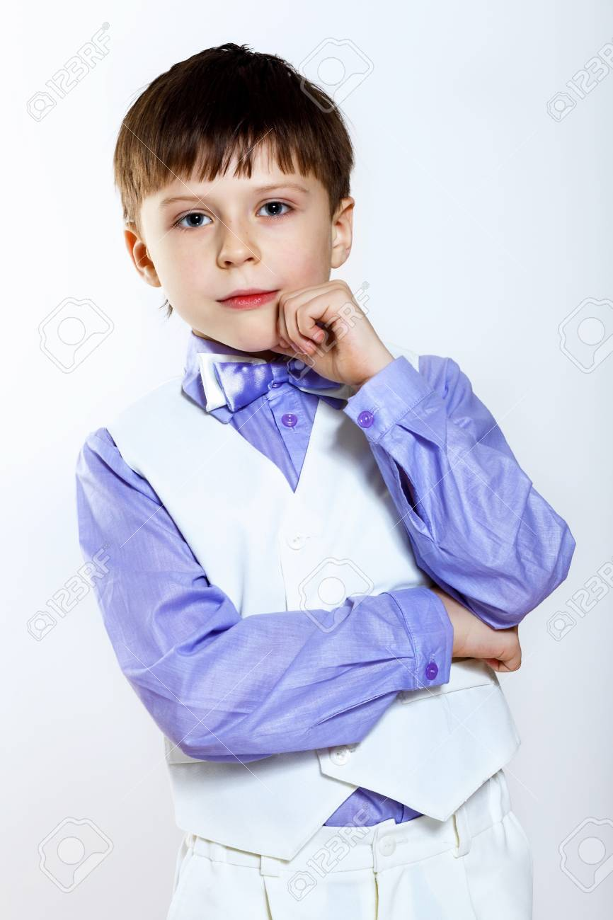 Portrait of a little boy dressed for a celebration Stock Photo - 17578918
