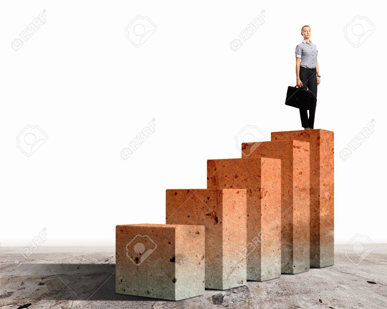 Business person on a graph, representing success and growth Stock Photo - 17769706