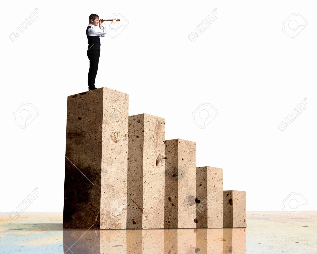 Business person on a graph, representing success and growth Stock Photo - 17869560