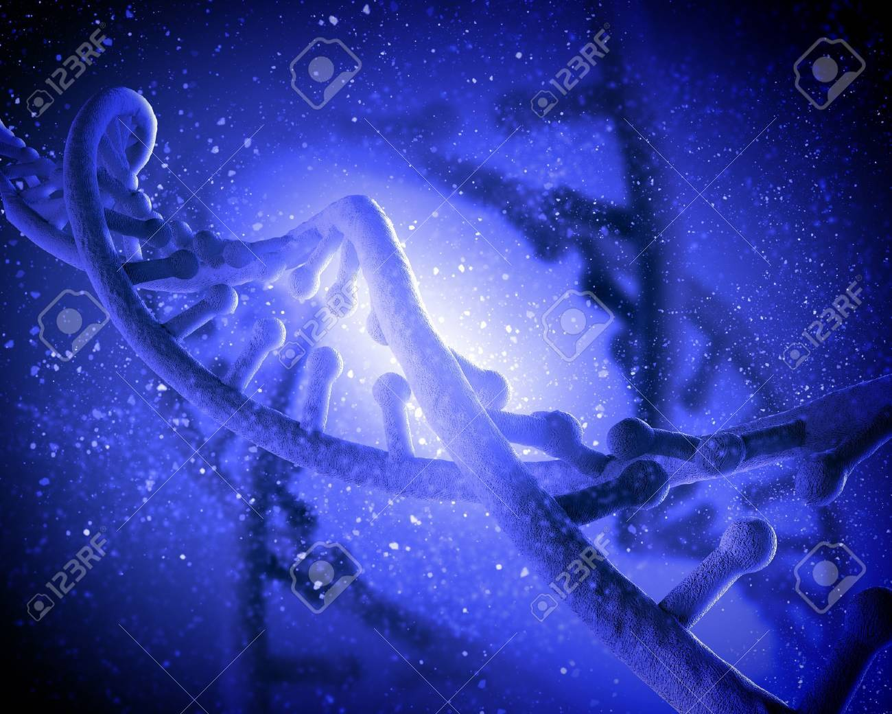 DNA molecule is located in front of a colored background  abstract collage Stock Photo - 18822553