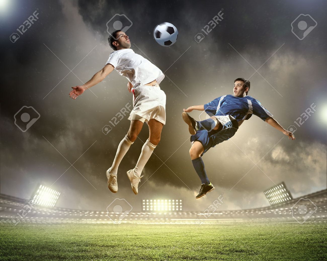 Image of two football players at stadium Stock Photo - 20327501