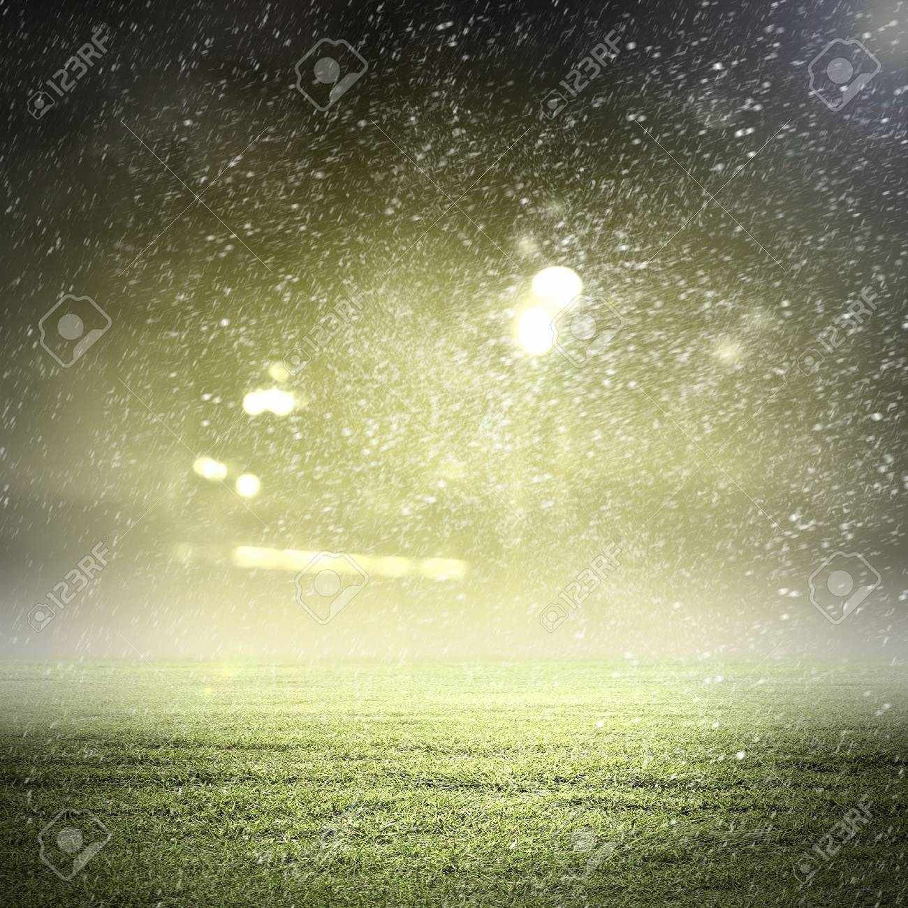 Image of stadium in lights and flashes Stock Photo - 21481783