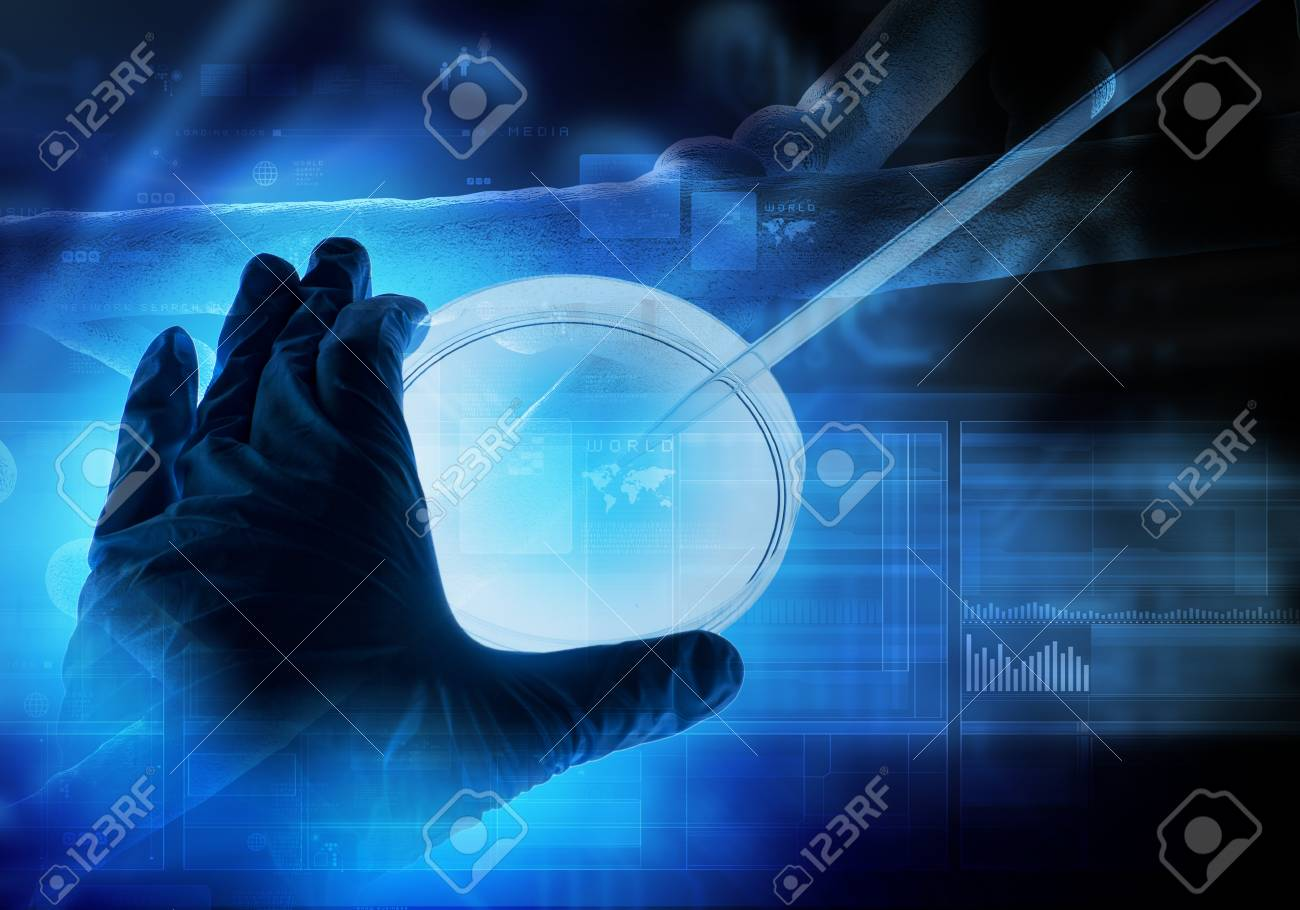 Close up image of human hand holding test tube  Science concept Stock Photo - 23403513