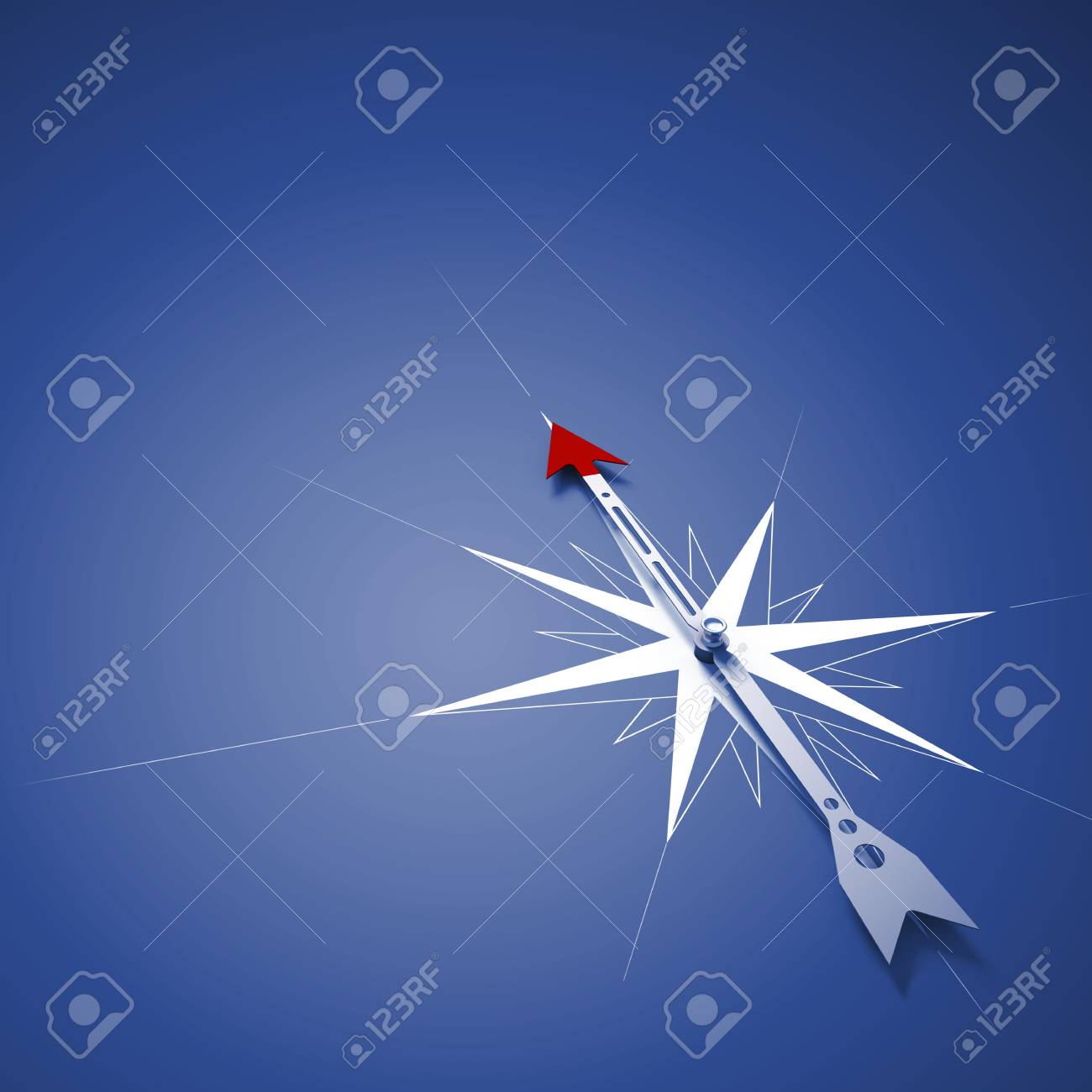 Conceptual image of compass pointing the direction Stock Photo - 26436301
