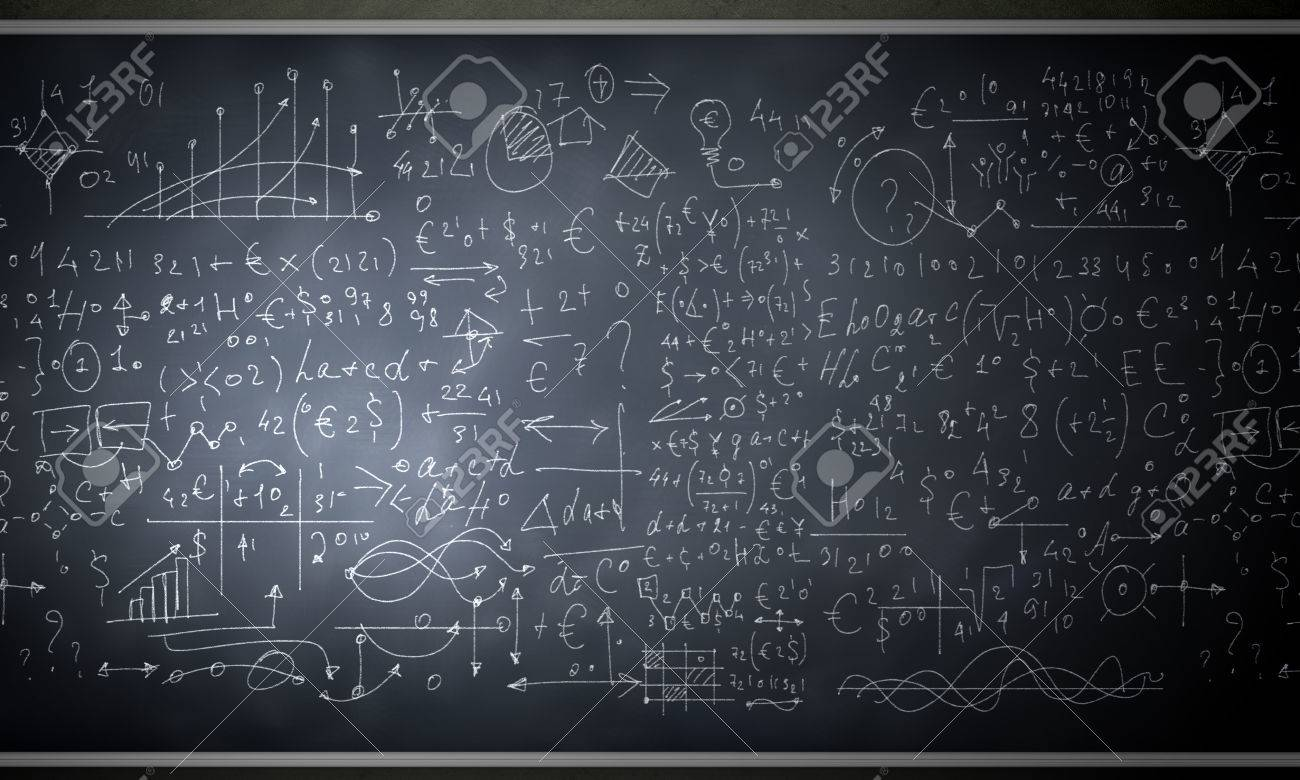 Background image of blackboard with science drawings Stock Photo - 29633822