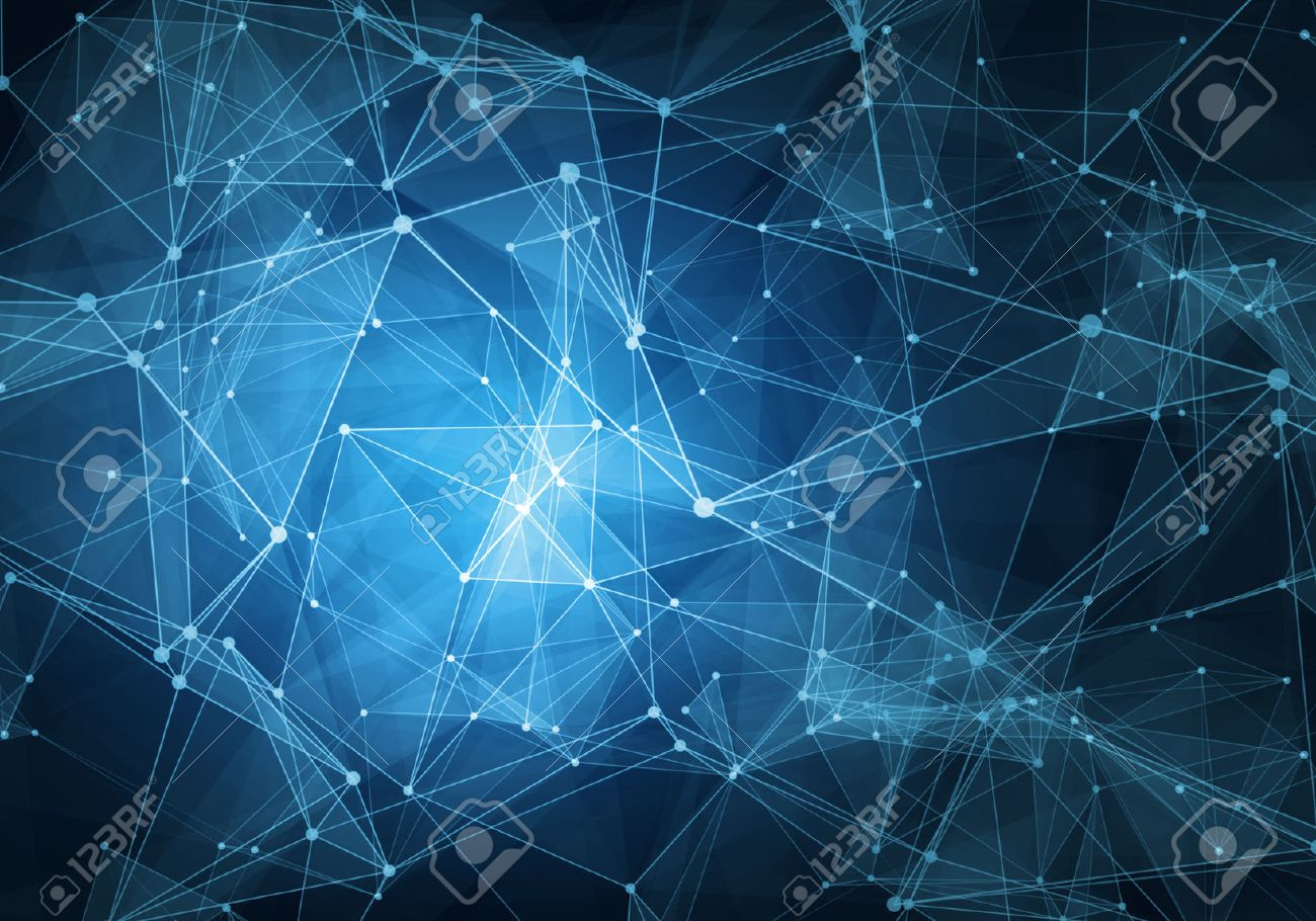 Abstract blue technology digital grid background image - 51228513