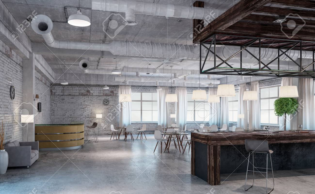 Modern Empty Office Interior As Design Sample Stock Photo Picture