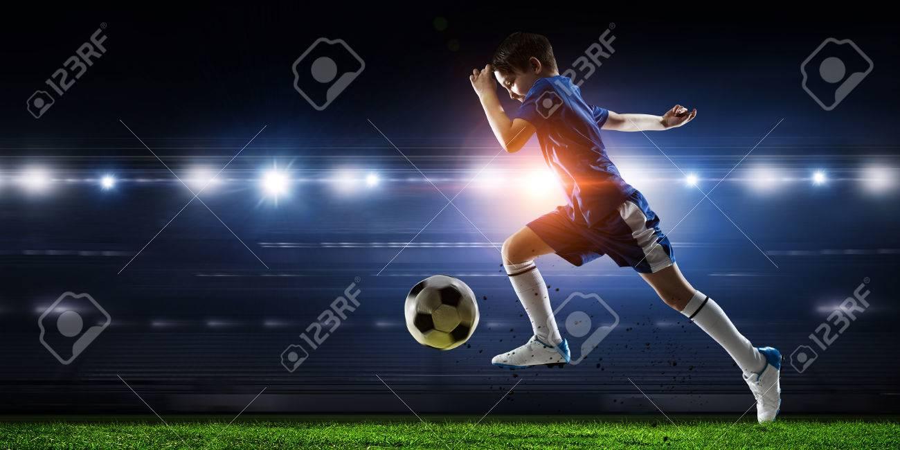 Little soccer champion. Mixed media . Mixed media - 84142387