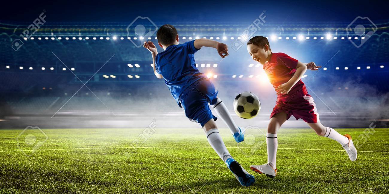 Little soccer champion. Mixed media . Mixed media - 84142447