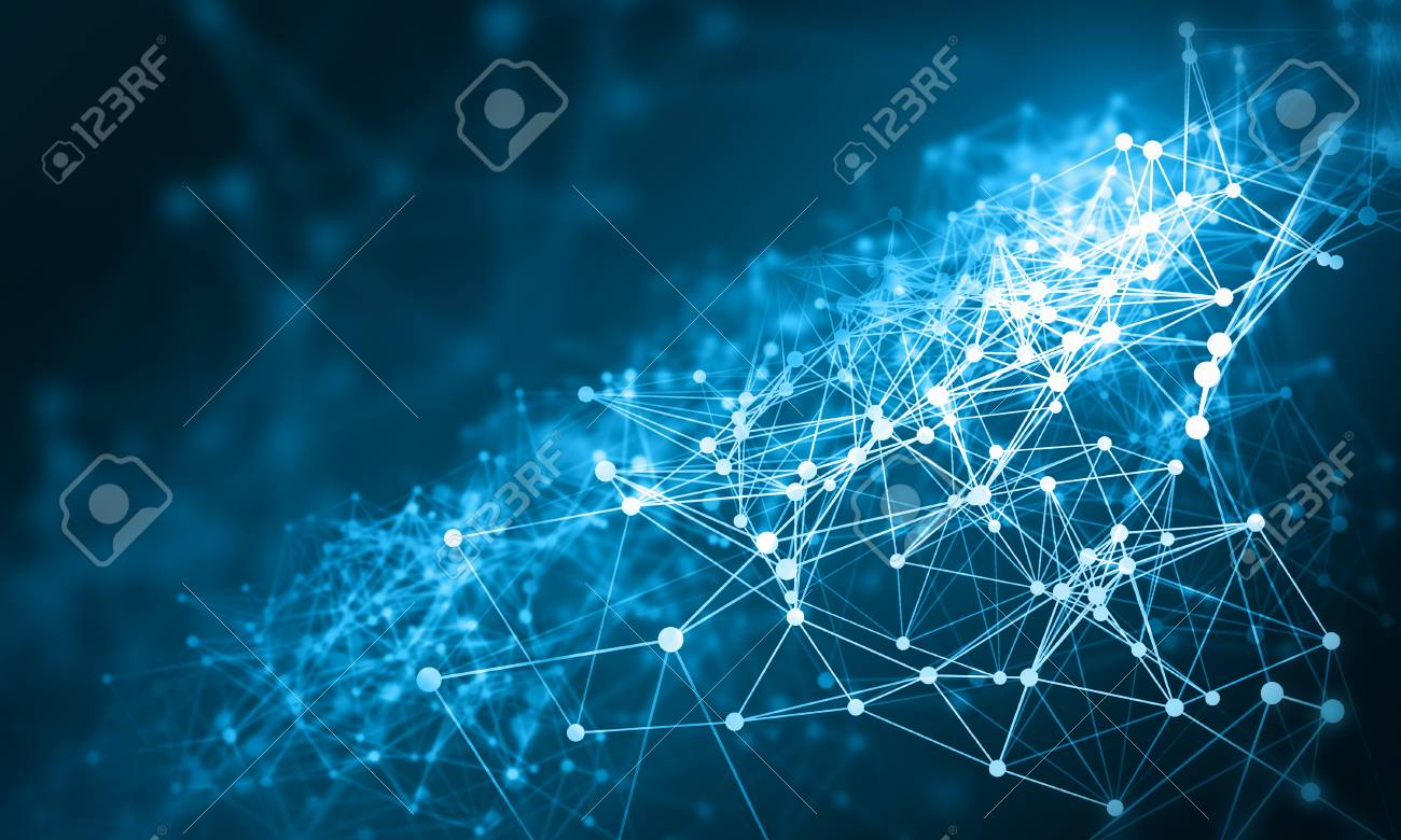 Connection technologies backdrop - 91442156