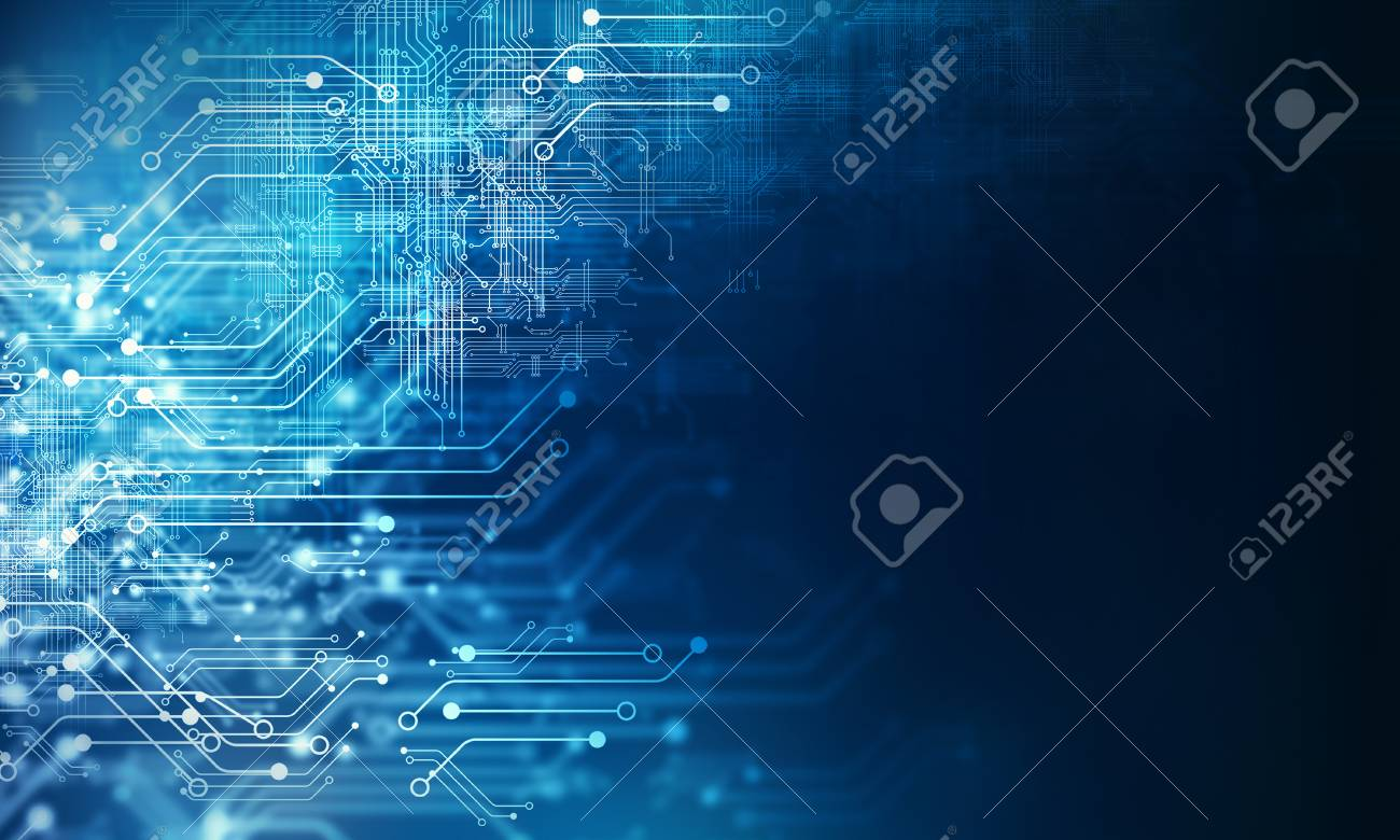 Futuristic background image with circuit board concept - 97563648