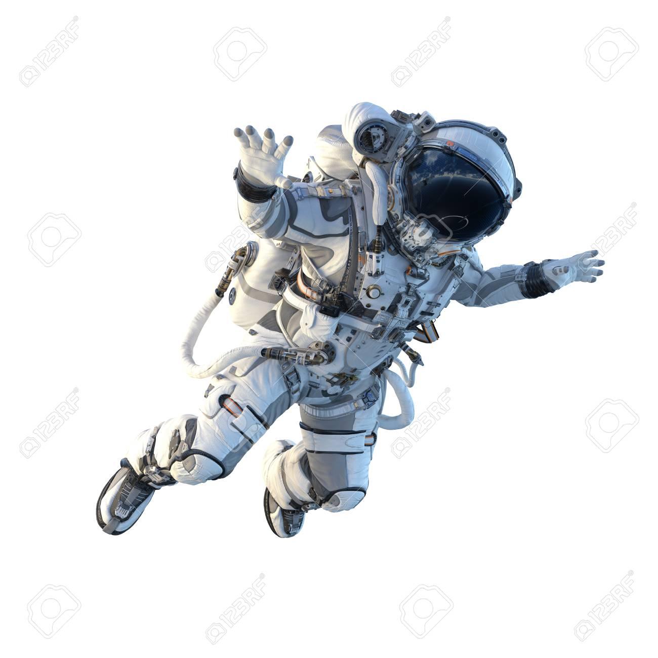 Astronaut on white. Mixed media - 104223494
