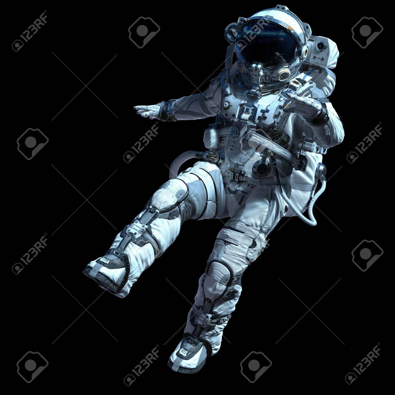 Astronaut in darkness. Mixed media - 106226597