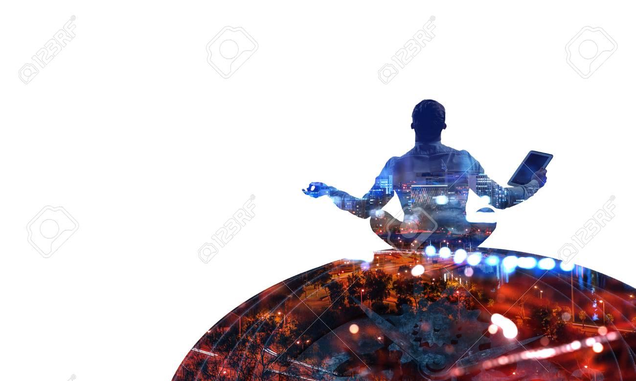 Finding inner balance. Mixed media - 110082531