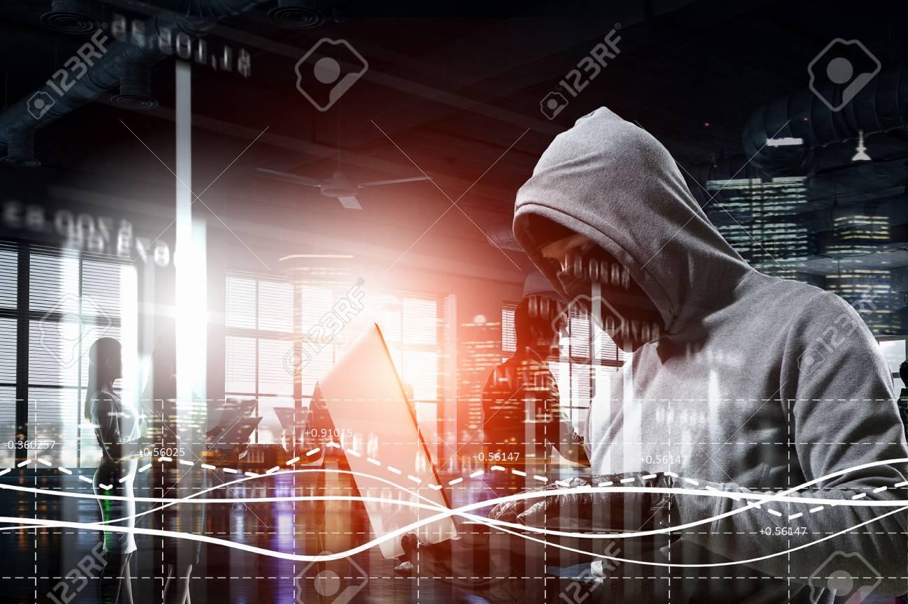 Hacker man steal information - 111050399