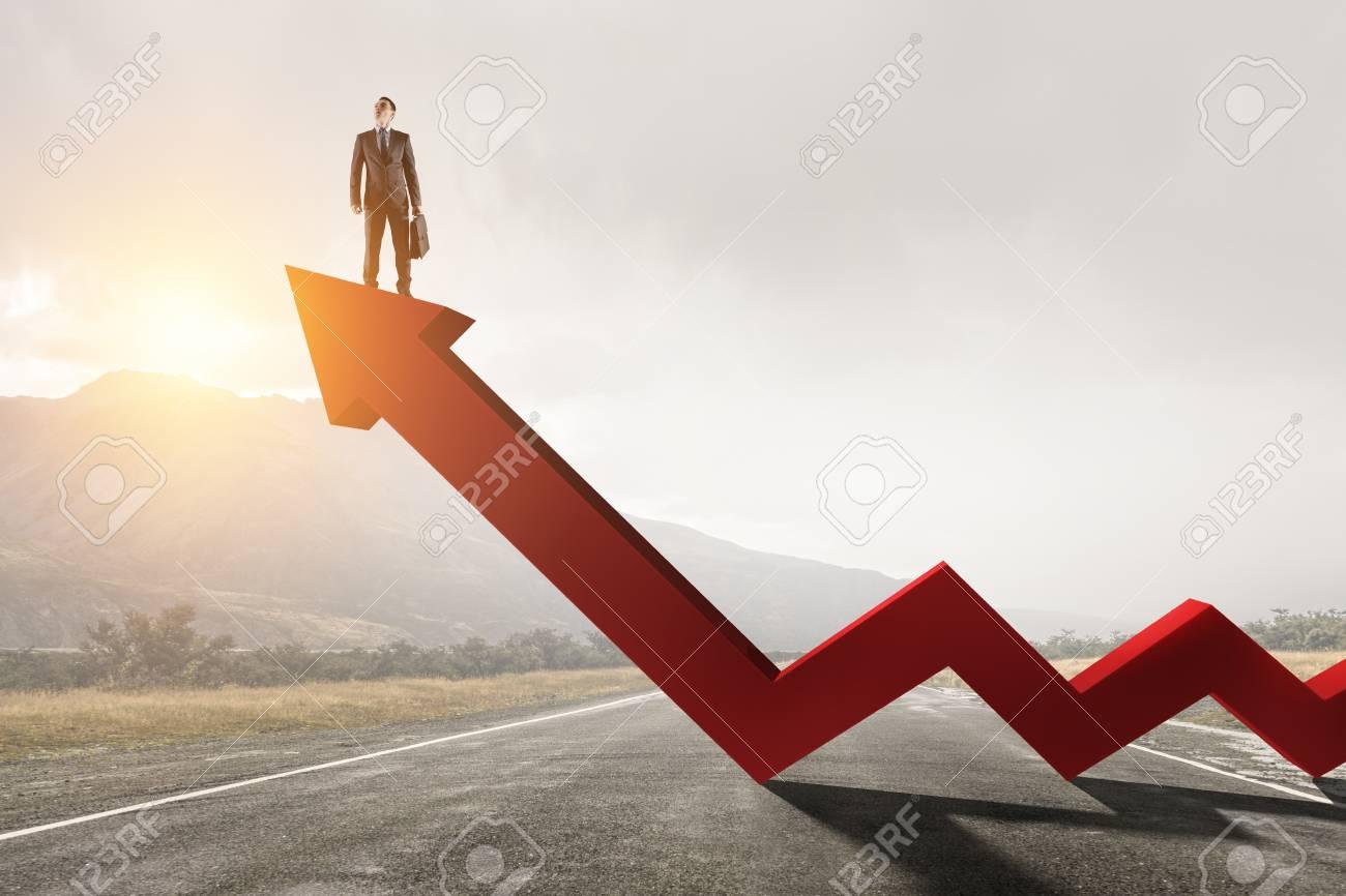 His progress and success. Mixed media - 110900090