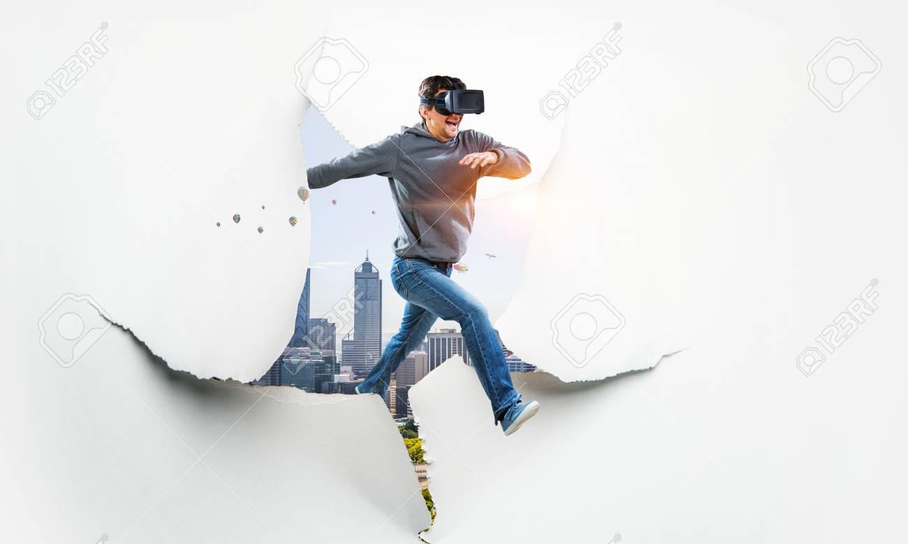 Virtual reality experience, technologies of the future. Mixed media - 121614446