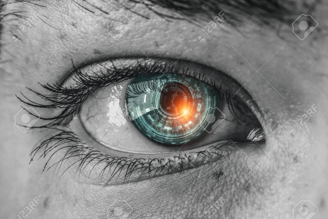 Abstract high tech eye concept - 128972327