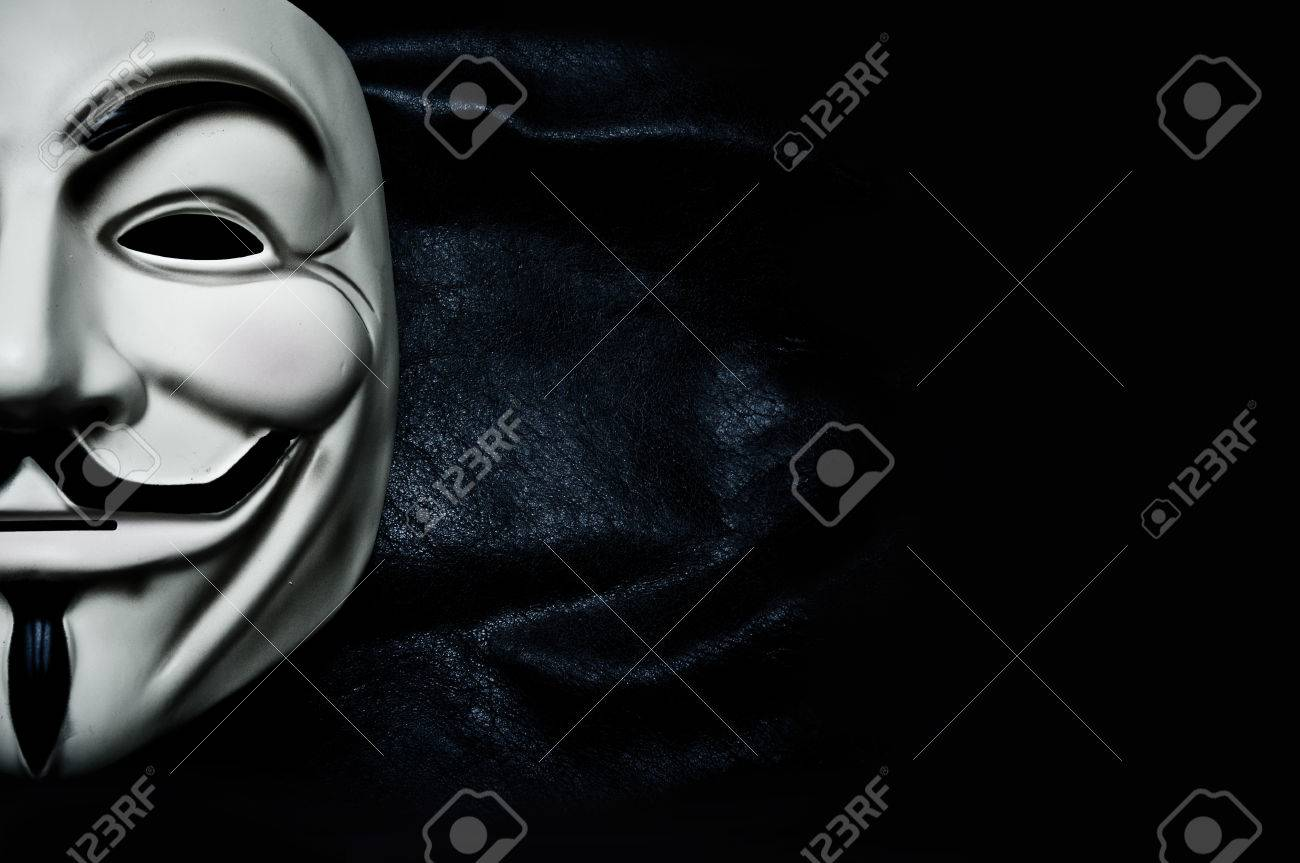 Vendetta mask symbol for the online hacktivist group Anonymous - 35783381