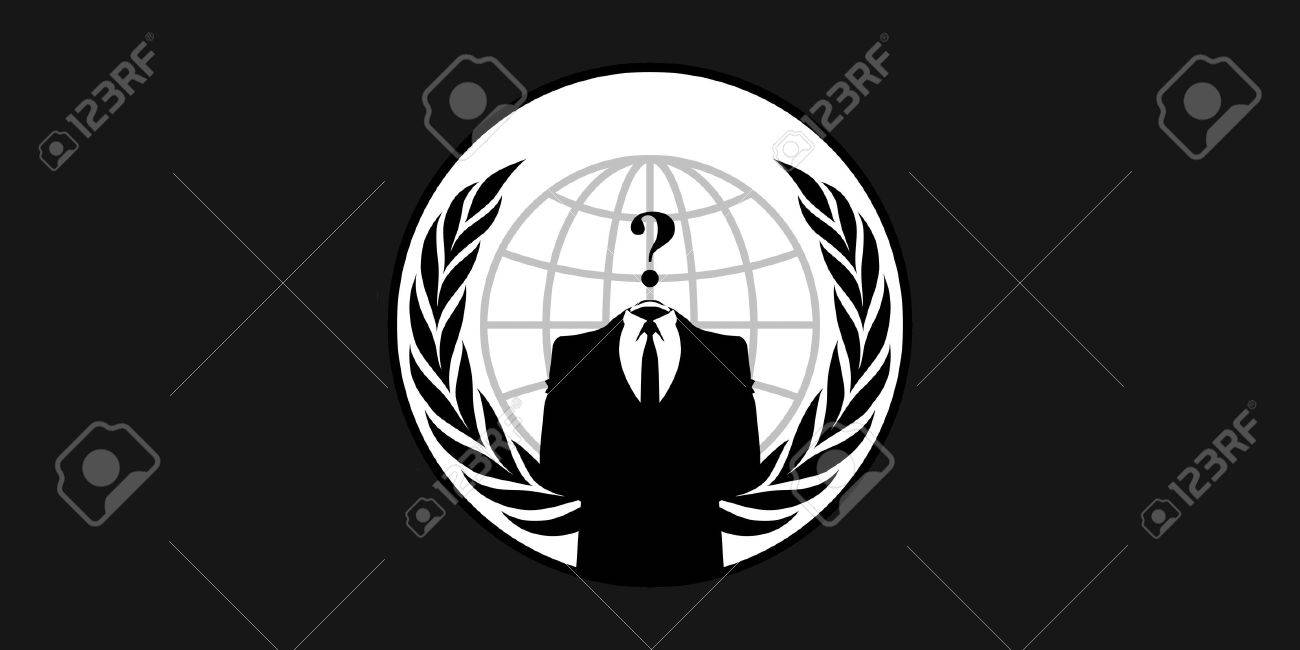 France 26 January 2015 Anonymous flag - symbol for the online hacktivist group Anonymous - 37212990