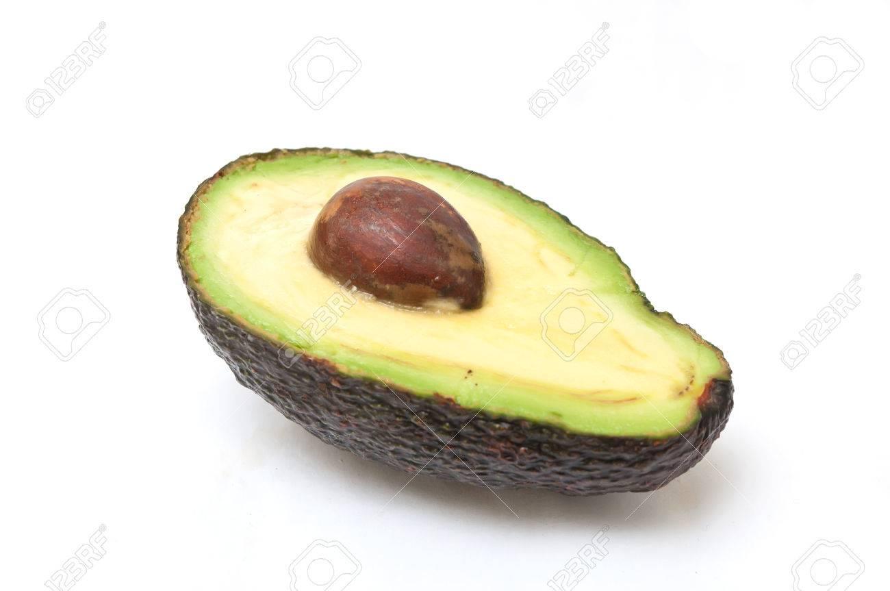 closeup of avocado on white background - 51913089