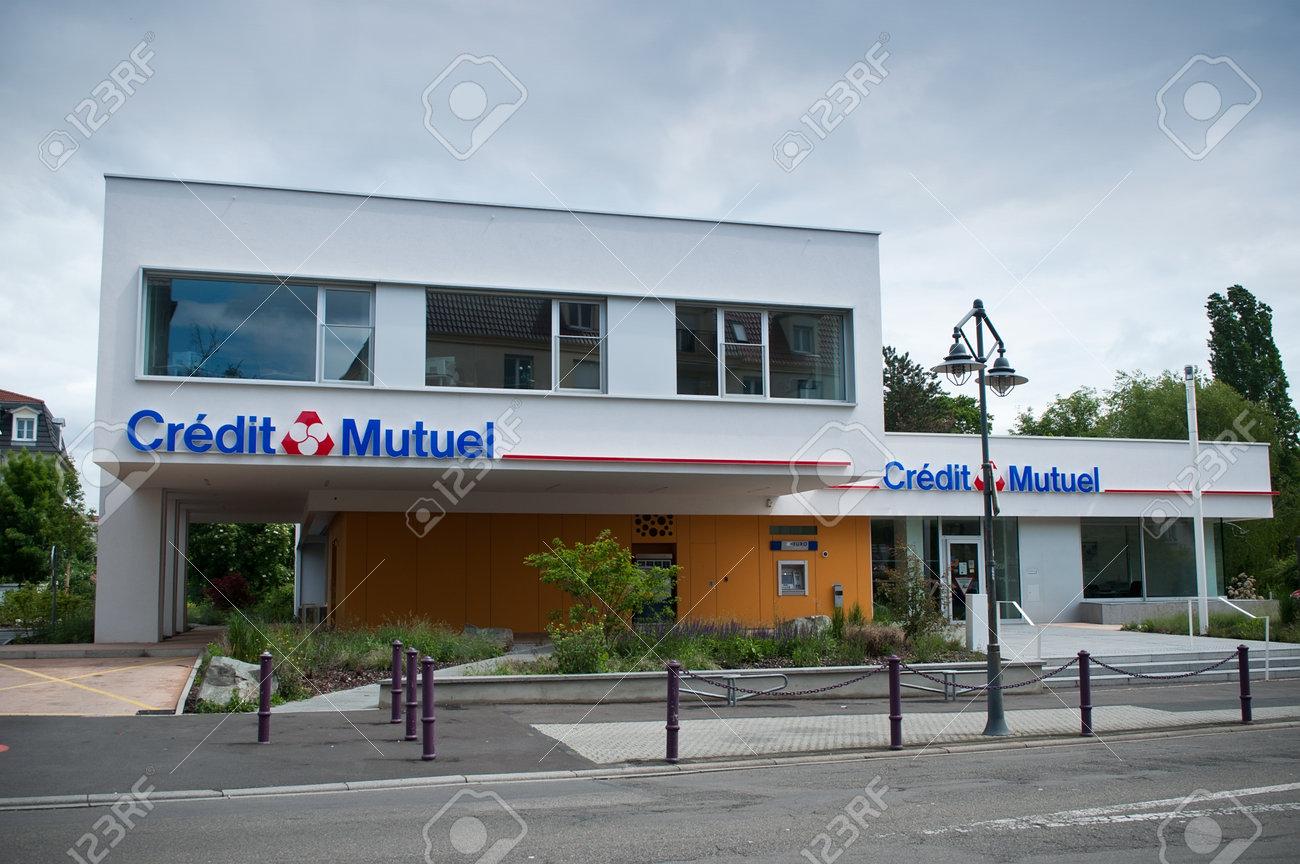 Mulhouse France 19 Mai 2016 Credit Mutuel Agence Bancaire
