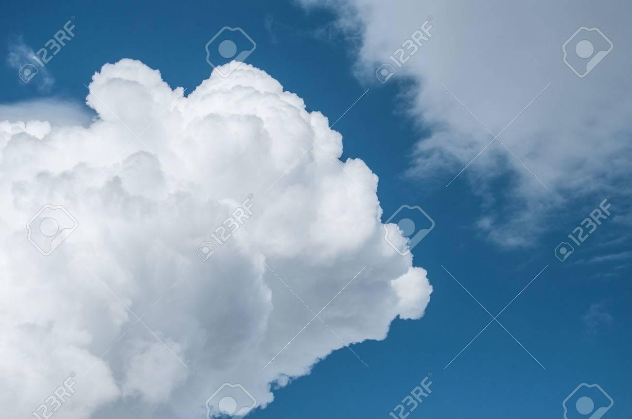 panorama of cloudy sky with cumulo nimbus clouds stock photo