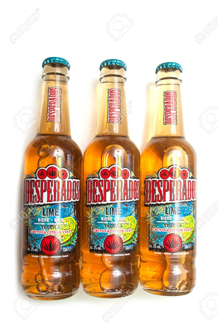 Mulhouse France 2 March 2020 Closeup Of Desperados Bier Stock Photo Picture And Royalty Free Image Image 142485195