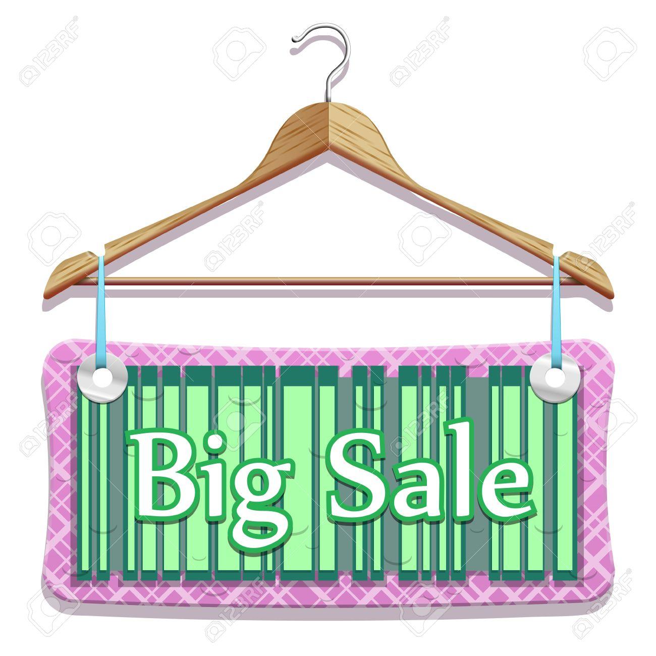Big Sale Clothes Hangers in beautiful vector Stock Vector - 11674303
