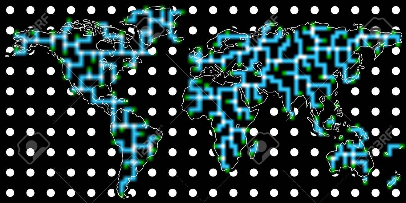 Global communication background Stock Vector - 11832958