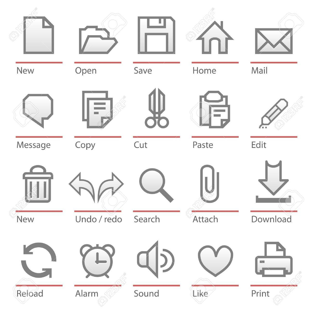 Universal software icon set Stock Vector - 11832981