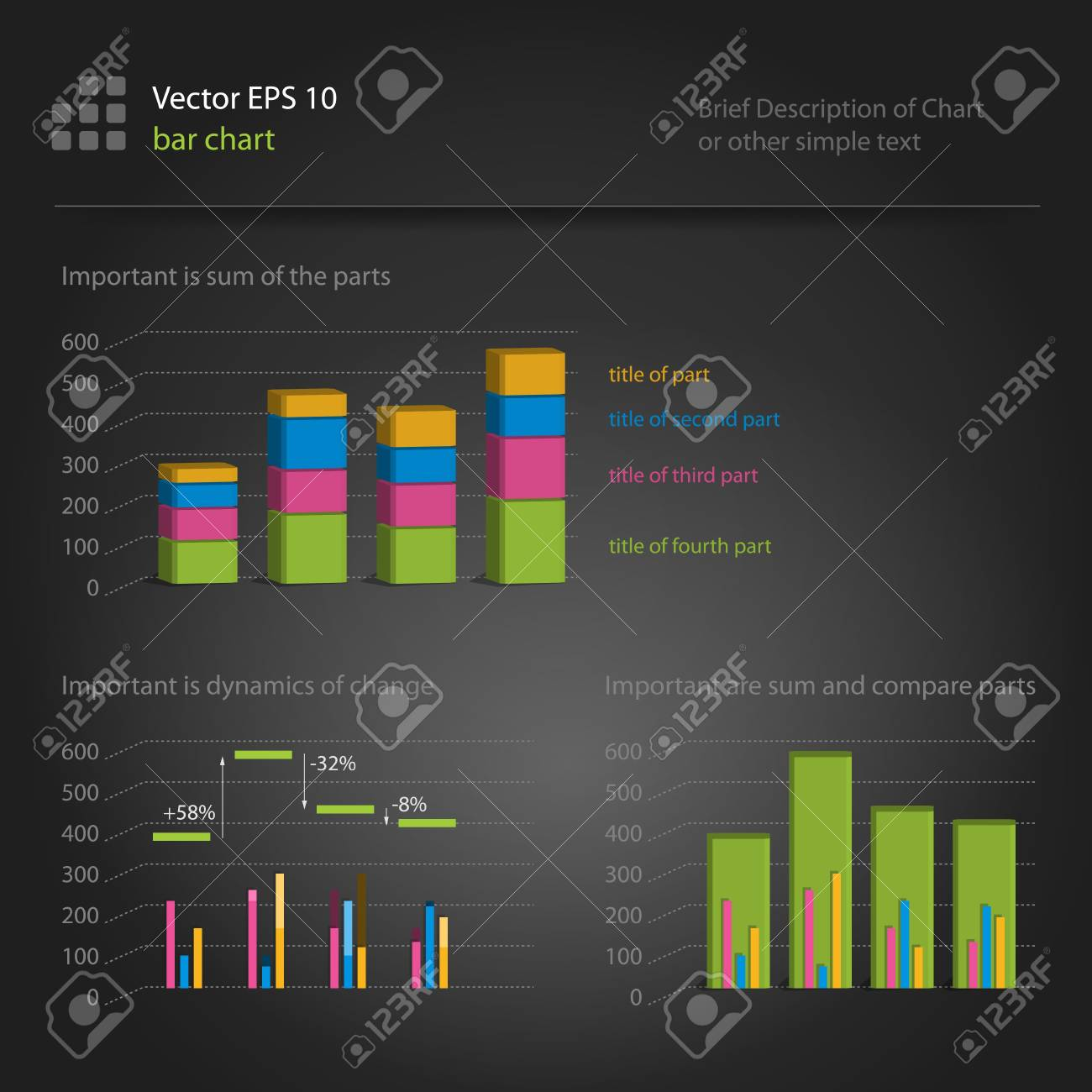 infographics, bar chart Stock Vector - 12473508