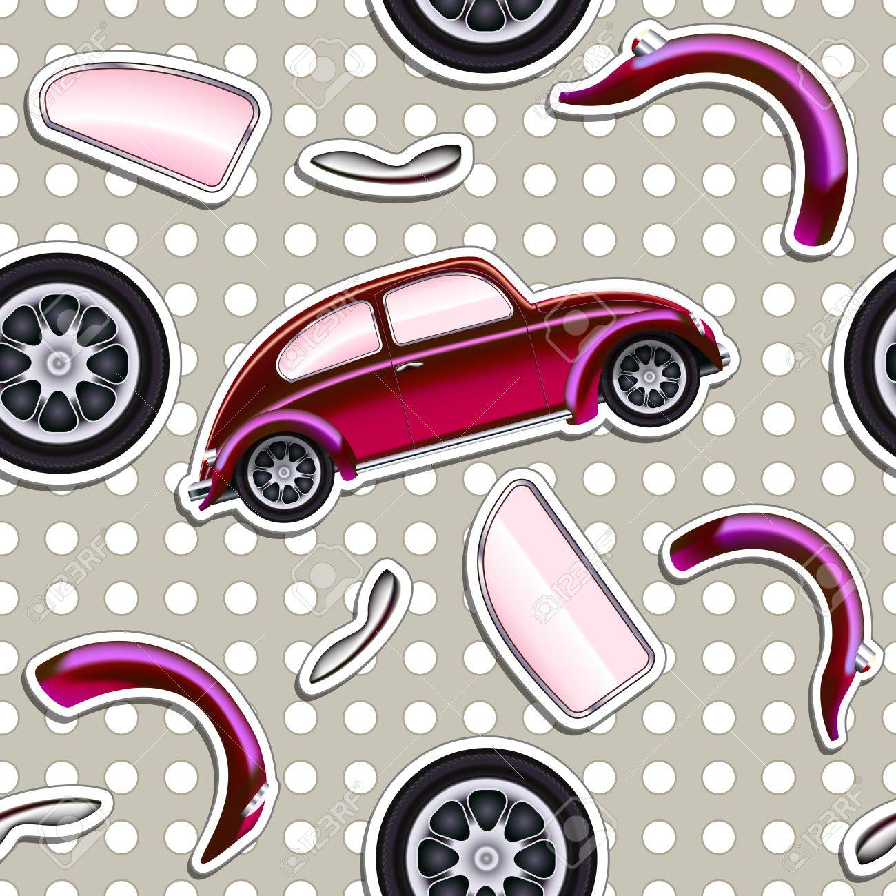 Cars Seamless background for boys kid Stock Vector - 13652997