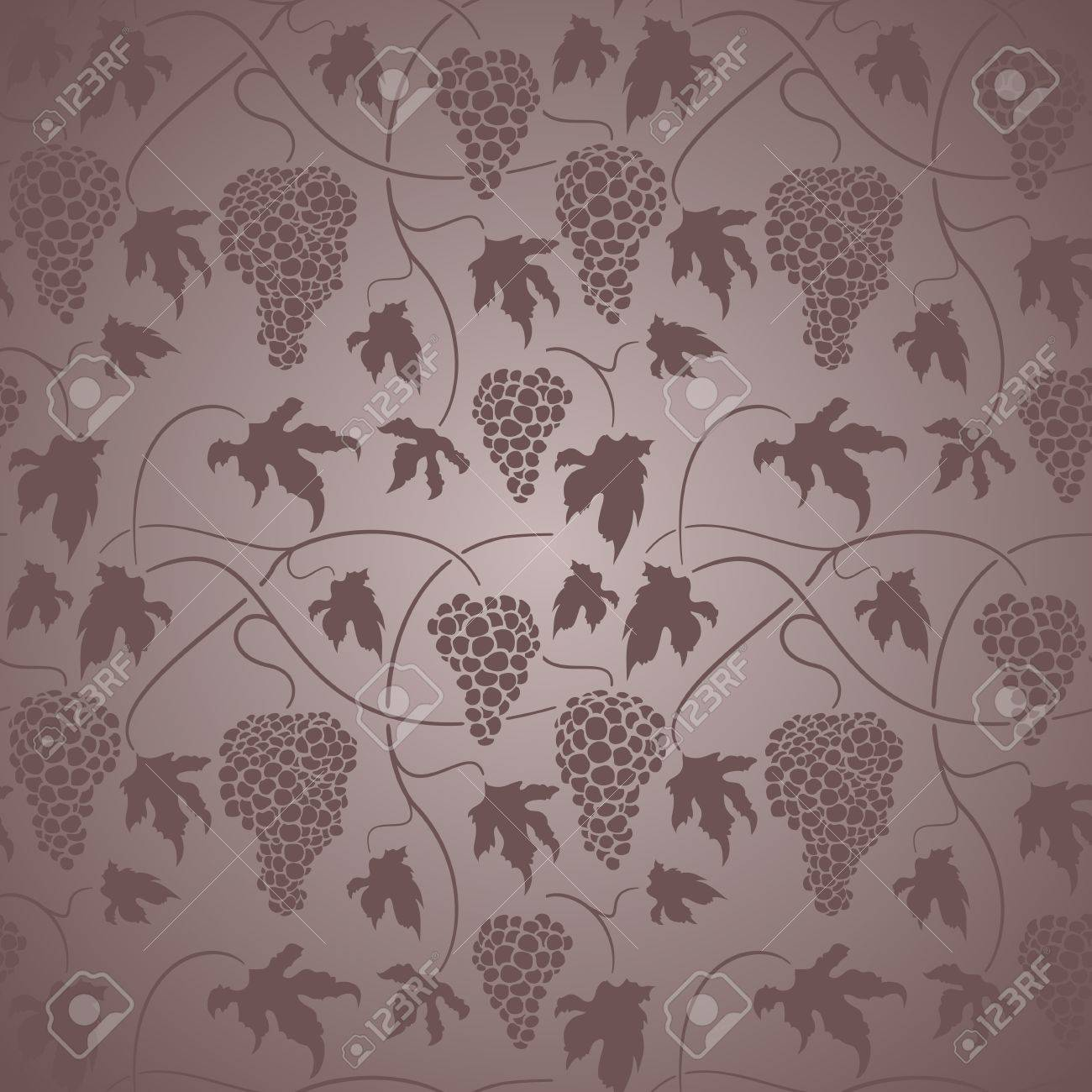 Elegant neo-classical design with leaves and grapes Stock Vector - 14026985