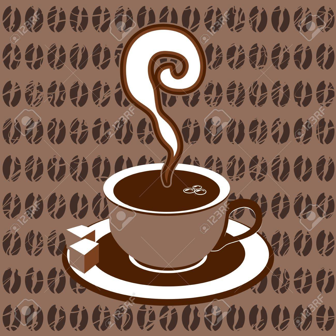Coffee cup on plate icon, vector illustration Stock Vector - 15497471