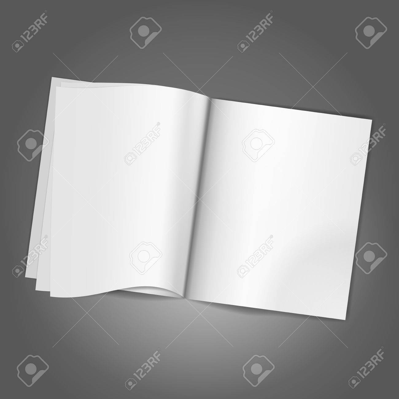 Magazine Blank Page Background Template Vector Illustration Royalty