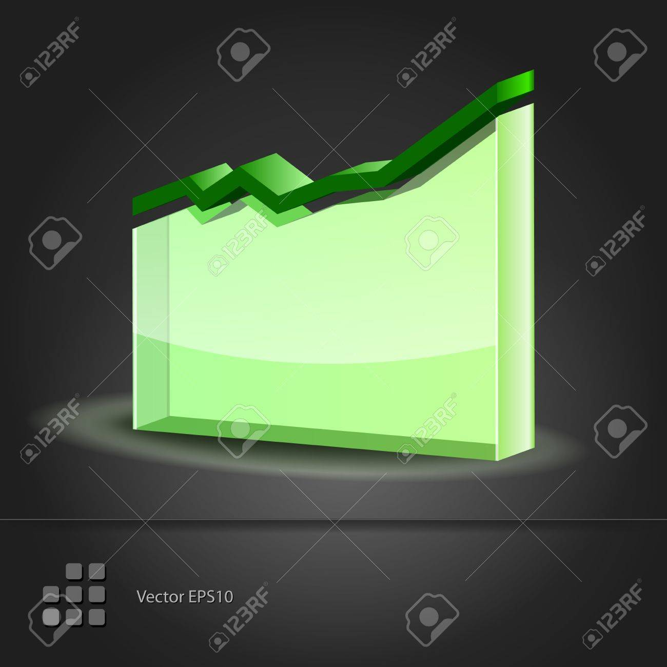 Crystal glass diagram  Graph Line Chart icon  Vector illustration Stock Vector - 15395309