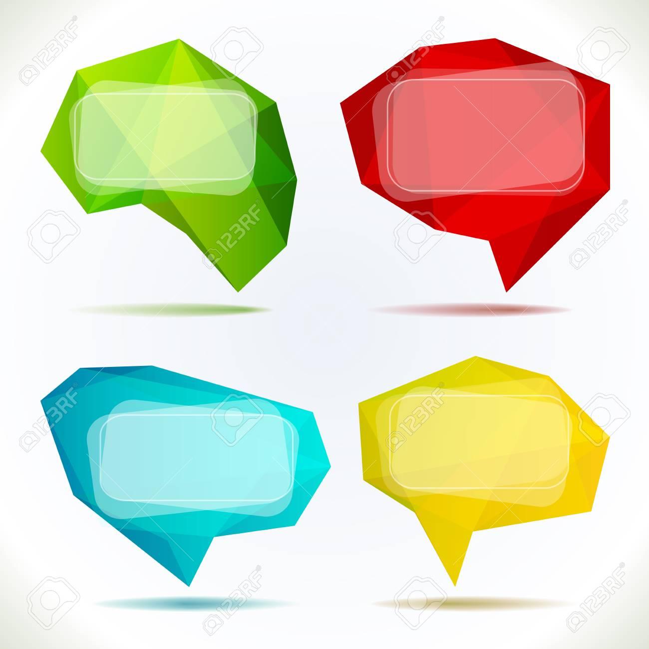 Set of Speech Bubbles isolated on white illustration Stock Vector - 15629170