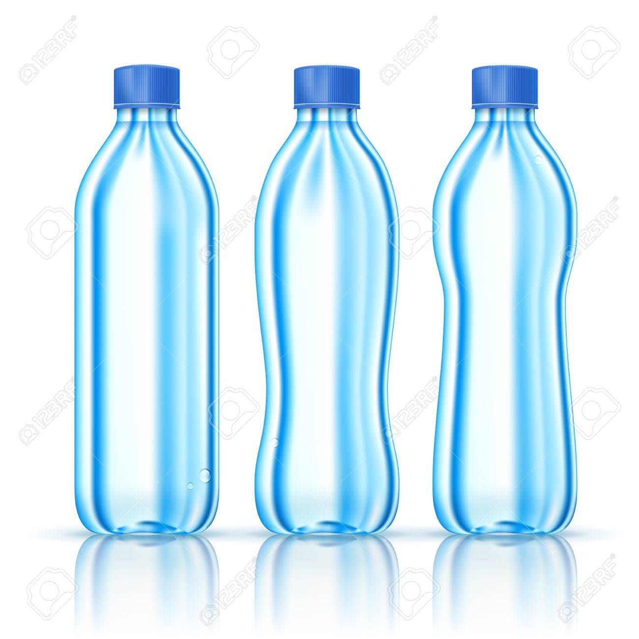 Water bottles various forms isolated on white  Illustration Stock Vector - 15684072