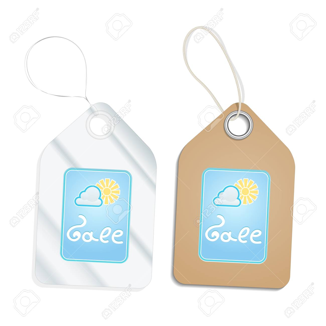 Plastic and Cardboard Tags isolated on white Stock Vector - 15756990