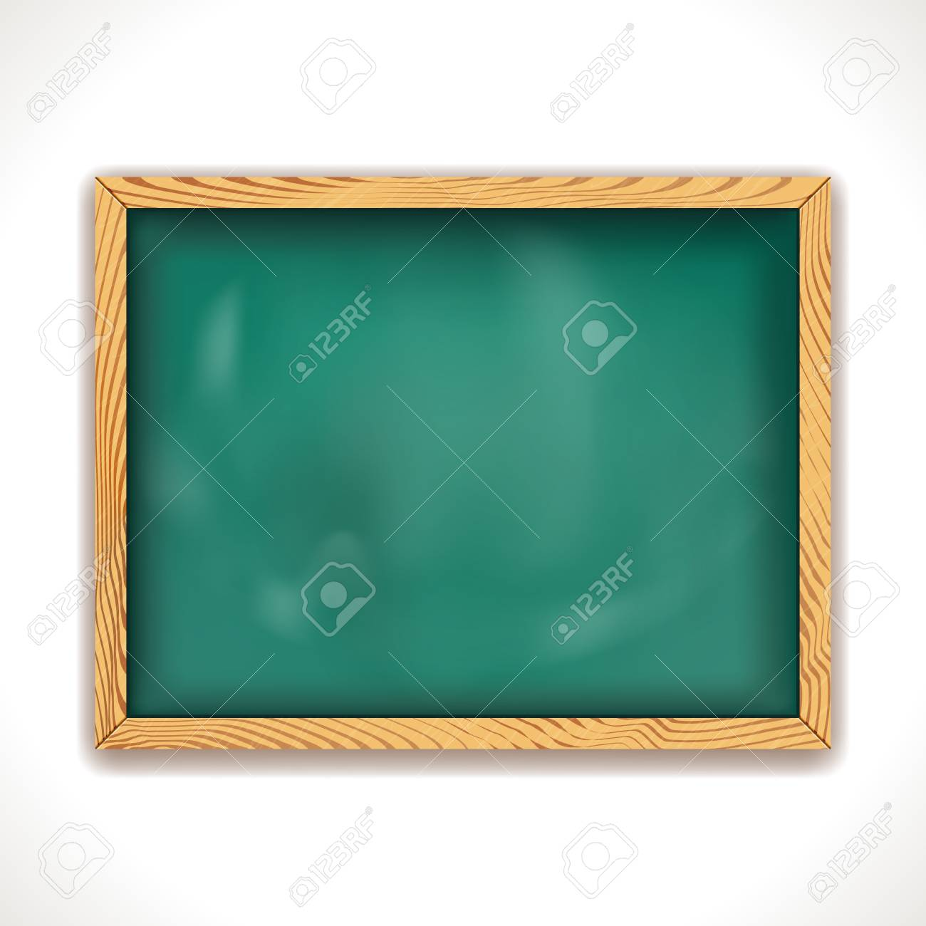 Green Blackboard isolated on white  Illustration Stock Vector - 16112749