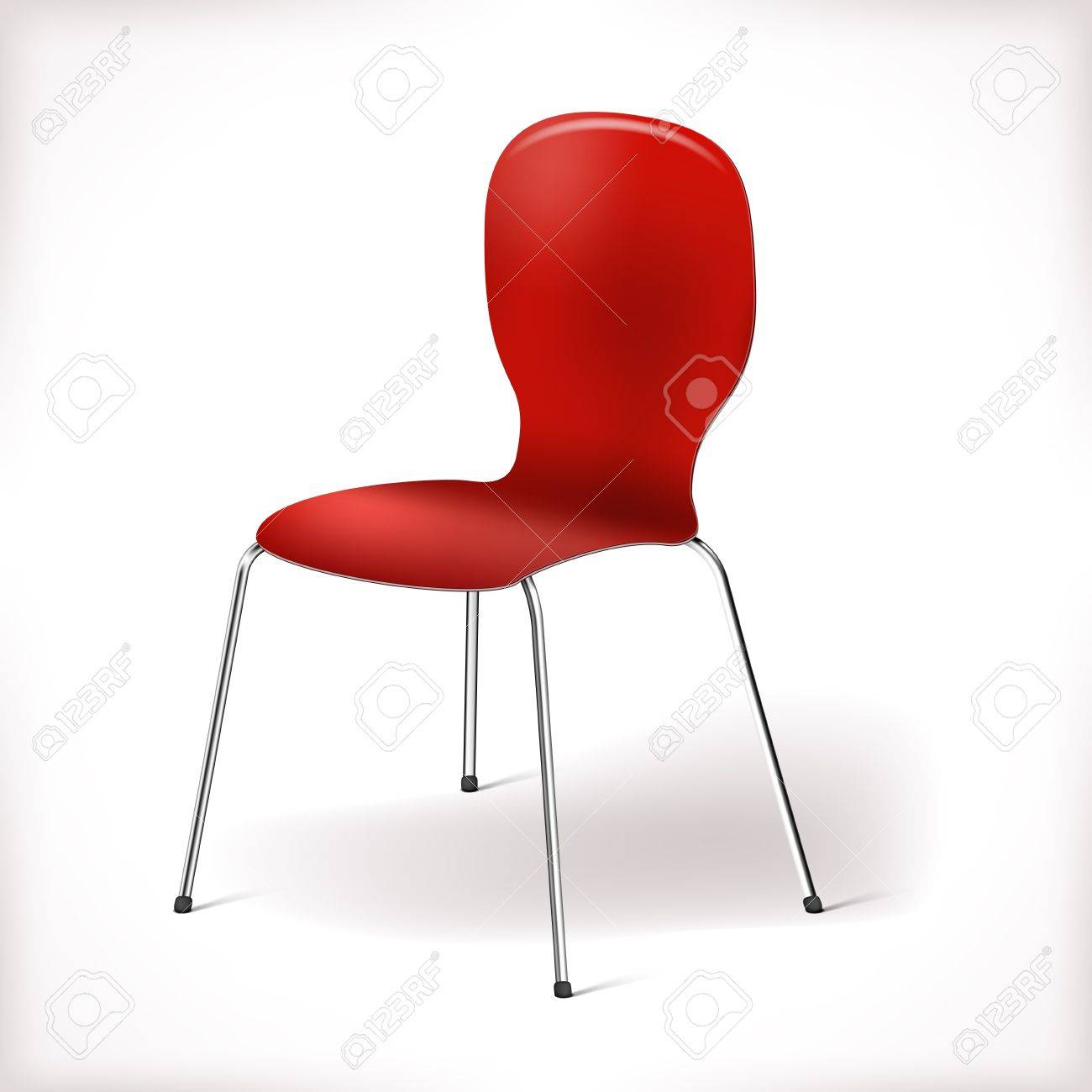 Vector plastic chair isolated on white with chrome legs Stock Vector - 16428518