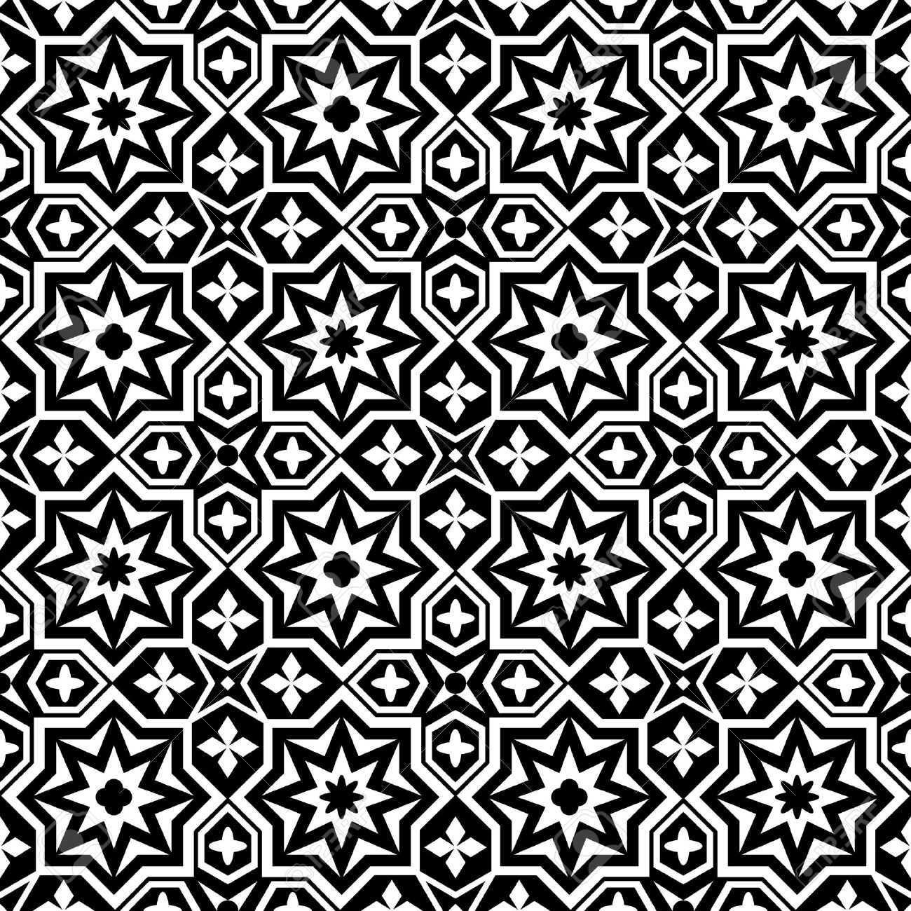 Abstract ornamental seamless pattern background black and white Stock Vector - 16428519
