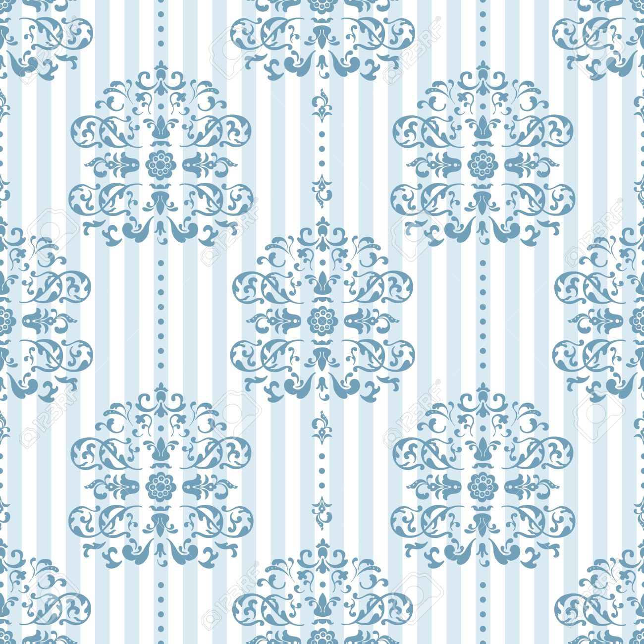 Royal Blue And White Background Pattern Vector Illustration Stock