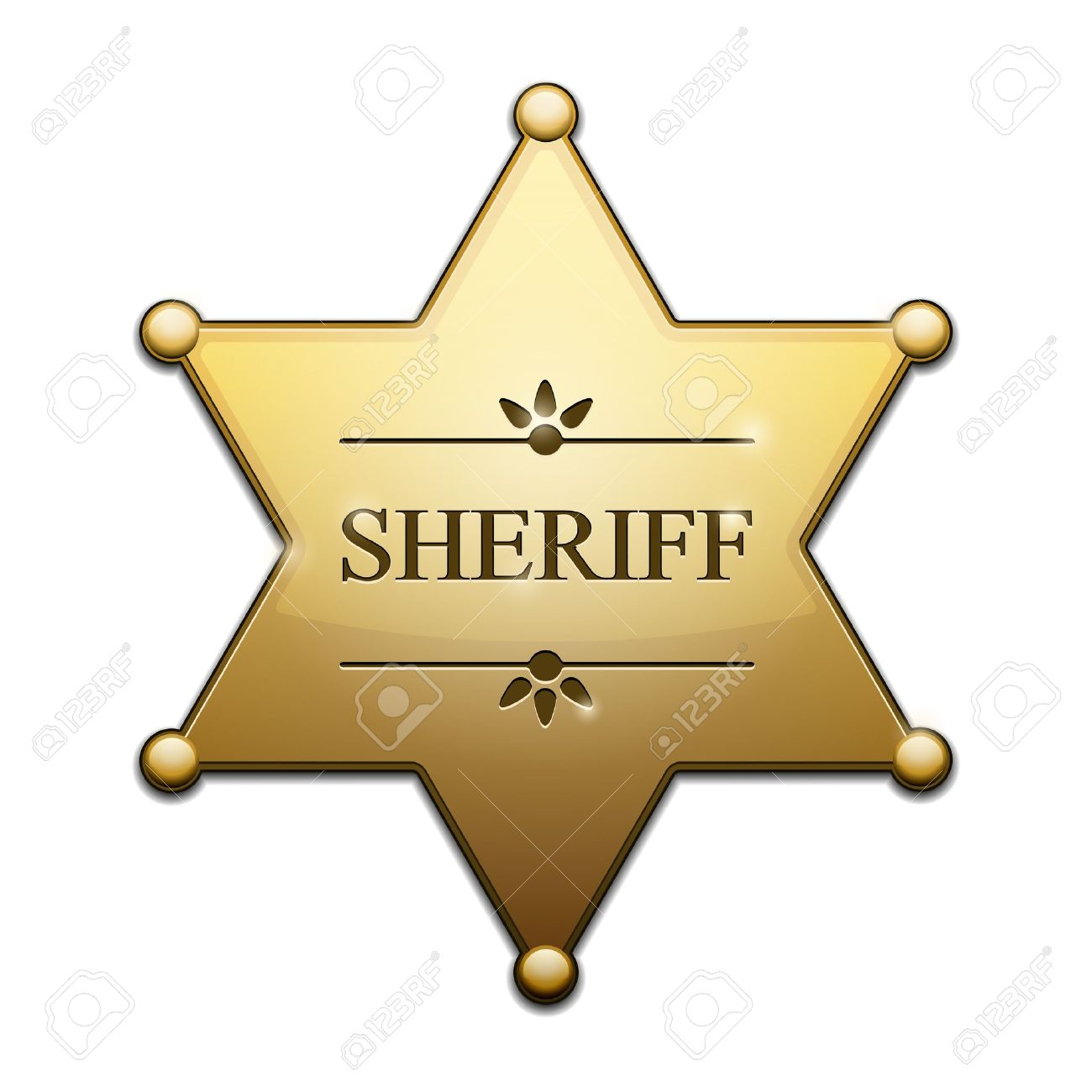 Cartoon Sheriff Badges