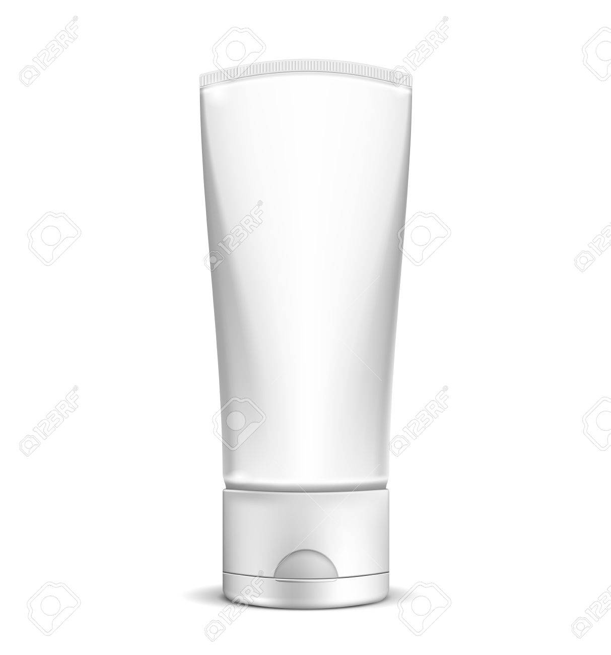 Vector Blank white cream tube or cosmetic bottle isolated on white background  EPS10 opacity Stock Vector - 17467930