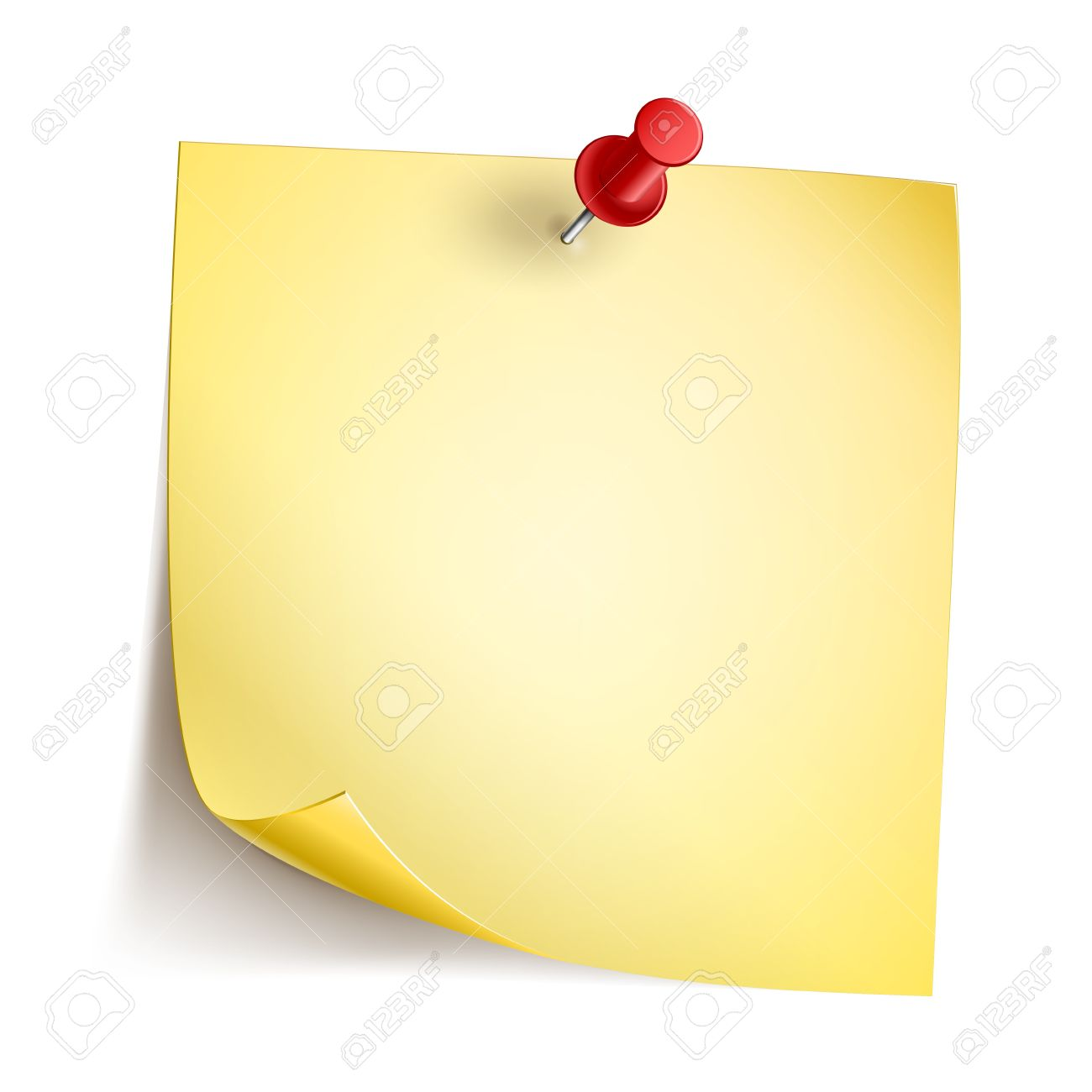 Vector Note Paper with pin on white background  EPS10 opacity Stock Vector - 17467932