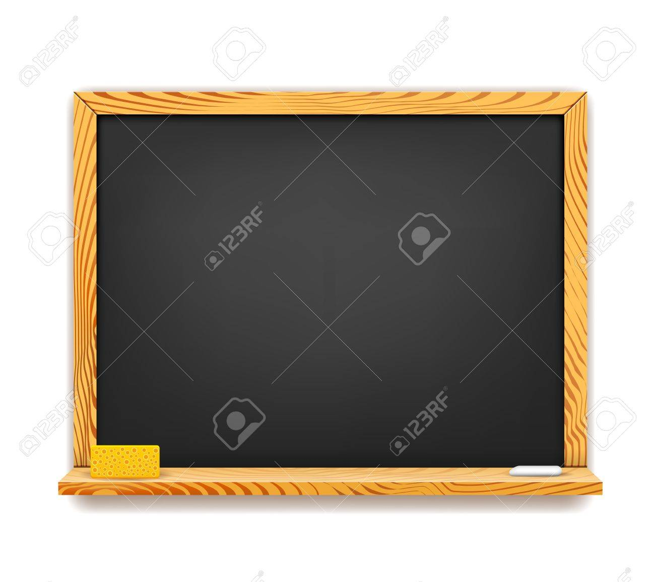 School blackboard background isolated on white Stock Vector - 17750993
