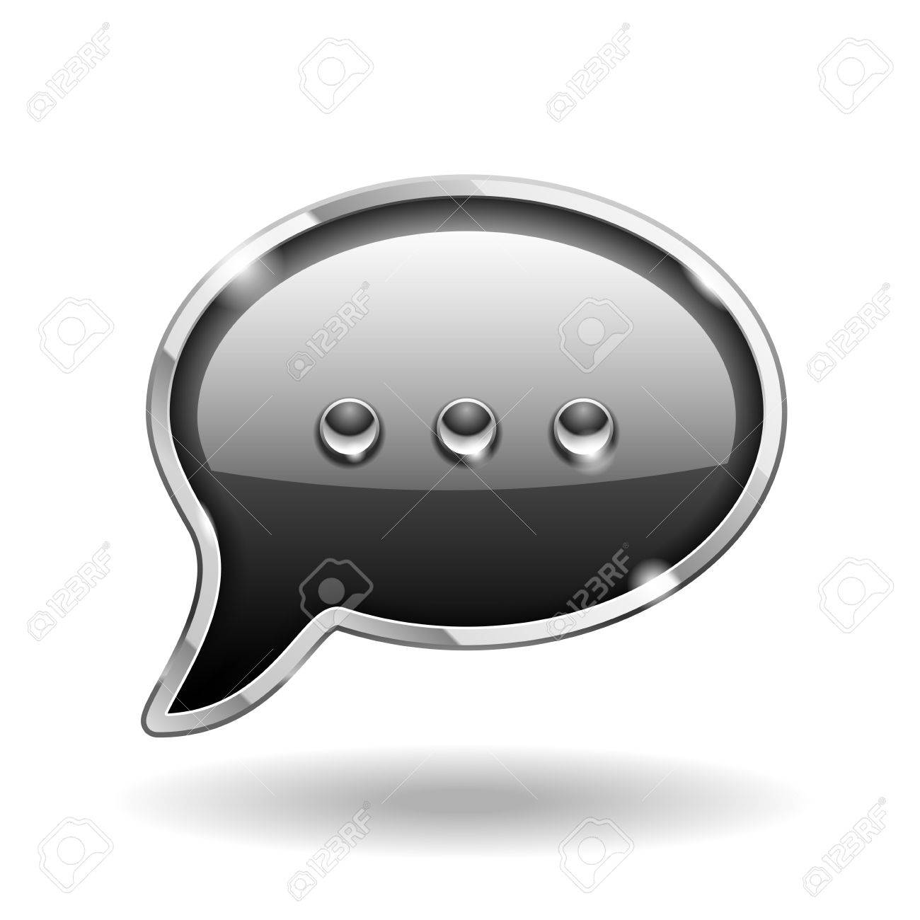 Bubble Talk Icon isolated on white   Sign Stock Vector - 18239888