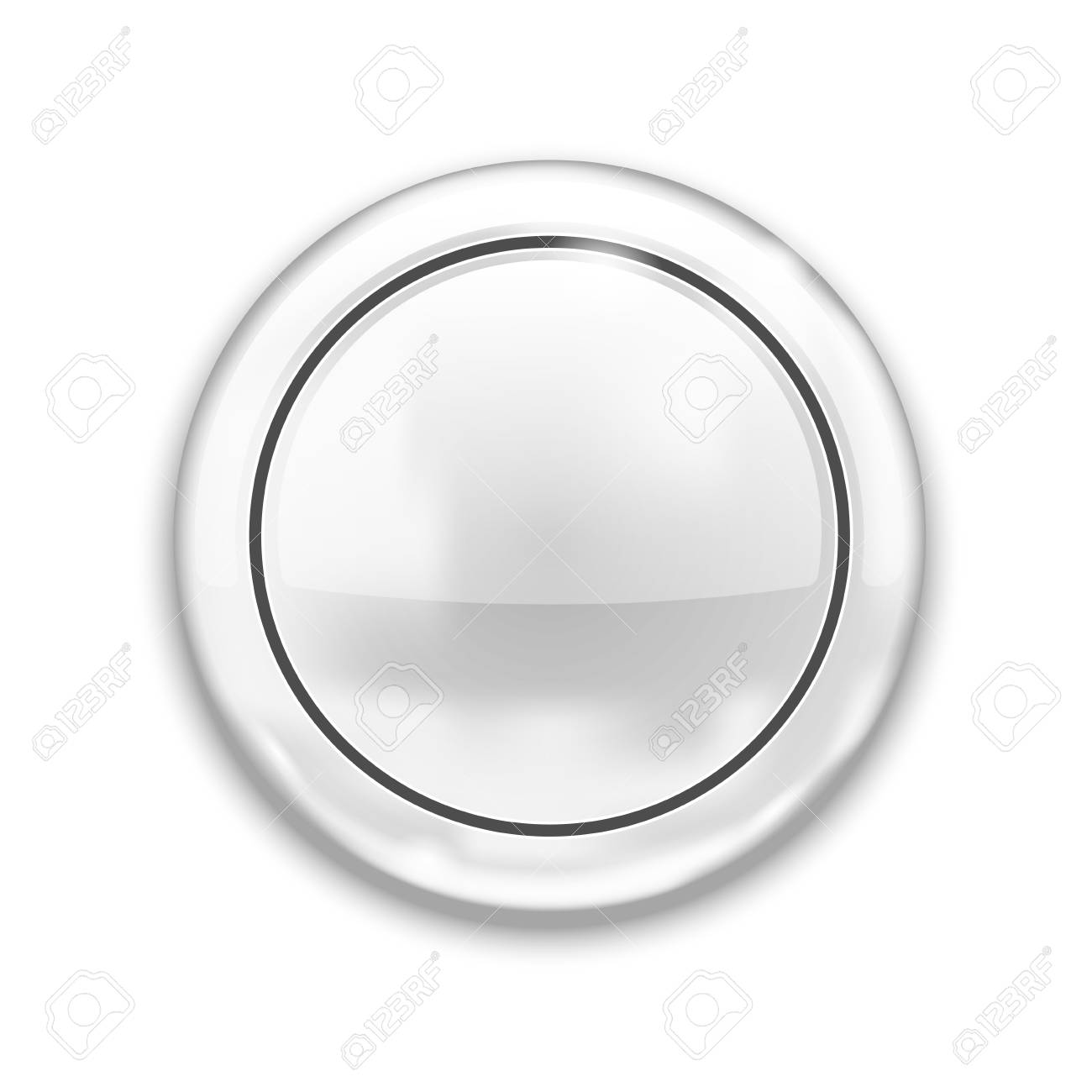 Empty White Button isolated on white background Stock Vector - 18239892